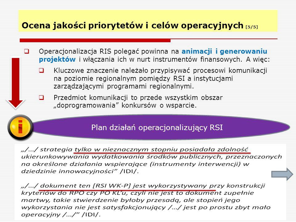 Ocena jakości priorytetów i celów operacyjnych [5/5]
